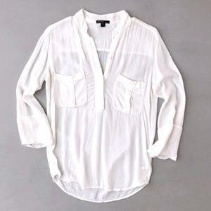 James Perse Los Angelos Women's White Shirt Blouse